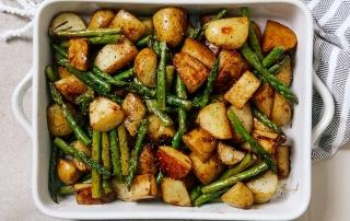 Рецепт спаржи с молодой картошкой